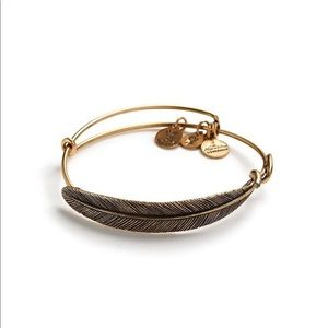 Alex and ani quill feather bangle NEW